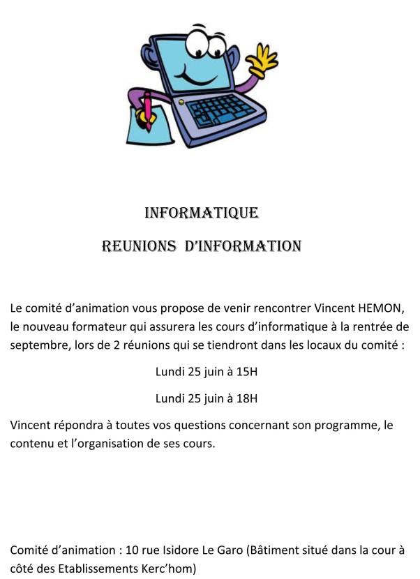 copie INFORMATIQUE - REUNIONS D'INFORMATION